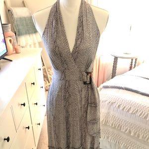 Anthropologie Snakeskin Print Wrap Dress - Sz 0